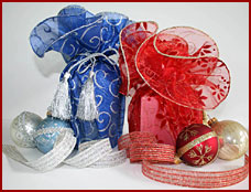 holiday ribbons bows