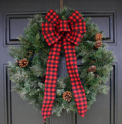 Christmas Bows for outdoor christmas decorations,