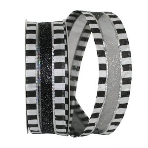 Beetle Juice Sheer Ribbon Wire Edge