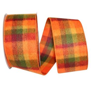 Peak Flannel Plaid Ribbon Wire Edge