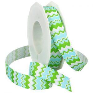 AQUA AND GREEN CHEVRON