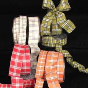 fine plaid ribbon all colors