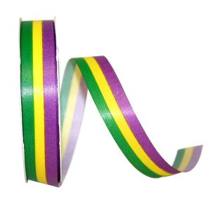 TRI-STRIPE MADRI-GRAS RIBBON