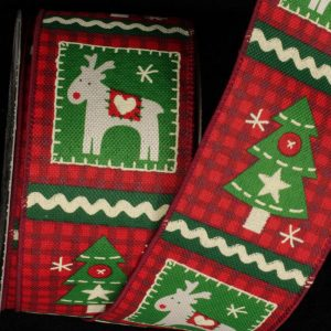 Tree & Deer Quilt Ribbon