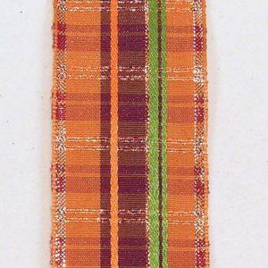 Wire Edge Plaid Stripe Ribbon