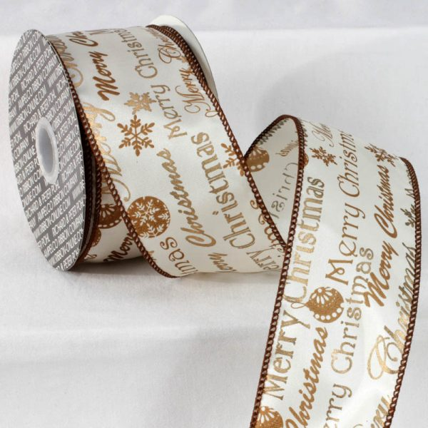 Wired Classic Merry Christmas Ribbon