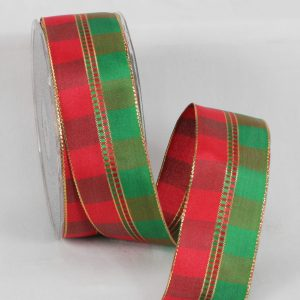 Elegant Holiday Check Ribbon