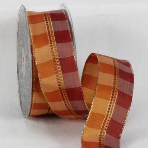 ivory holiday check ribbon wire edge karaboo ribbons