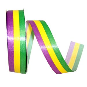 Mardi Gras Supreme Stripe Ribbon