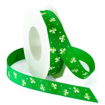 IRISH CLOVER GROSGRAIN RIBBON