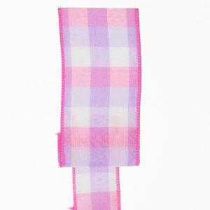 Pastel Check Plaid Ribbon Color Card