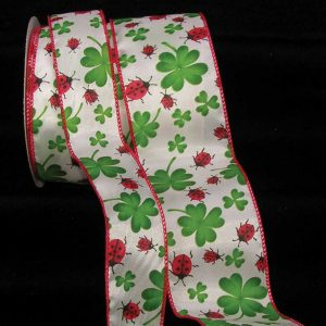 Shamrock and Ladybug Ribbon