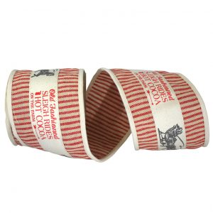 Wire Edge Vintage Natural Ticking Ribbon