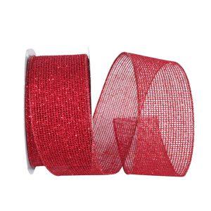 Glitter Web Mesh Metallic Ribbon Wire Edge