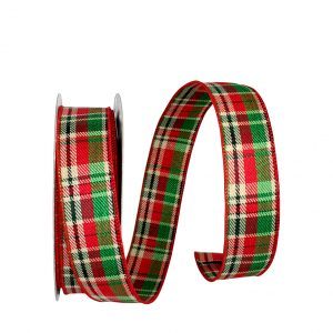 Plaid Country Twill Ribbon Wire Edge