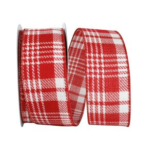 WIRED EDGE TWILL PEPPERMINT PLAID
