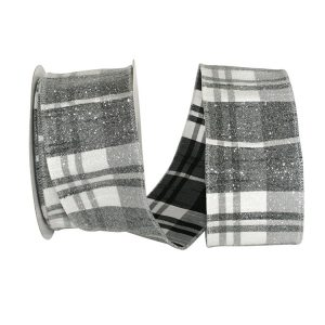 Frosted Grand Plaid Ribbon