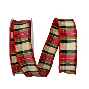 Holiday Tradition Dupioni Plaid Ribbon