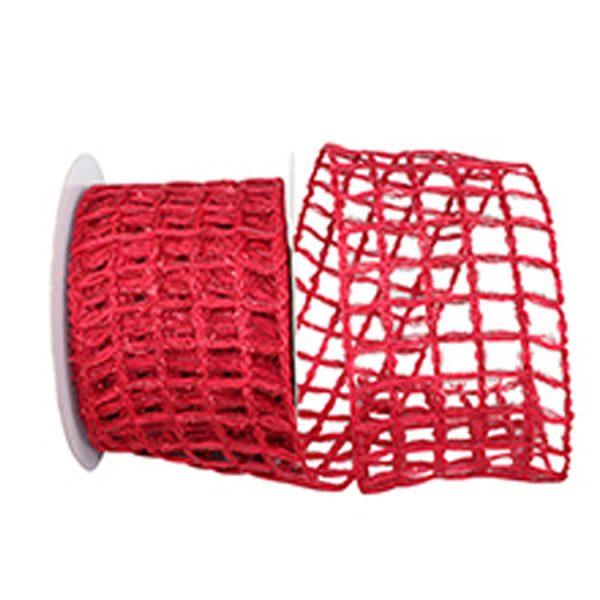 Grand Jute Box Sparkle Ribbon Wire Edge