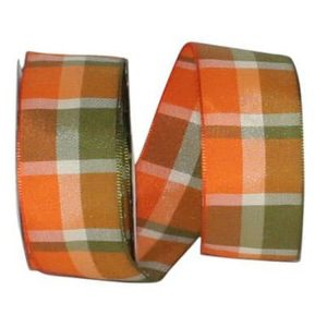 Woven Windy Plaid Ribbon Wire Edge