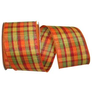 Planter Plaid Value Ribbon Wire Edge