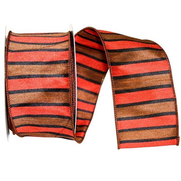 Stripe Harvill Dupioni Ribbon Wire Edge