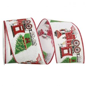 TRAIN WITH CHRISTMAS TREE LINEN