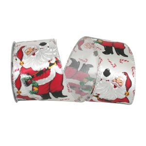 SANTA AND CANDY CANE RIBBON