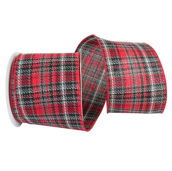 WIRED RED GREY PLAID