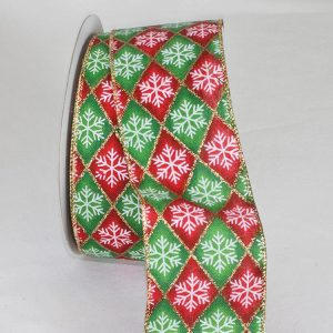 Wired Diamond Snowflakes Ribbon