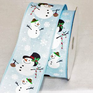 BLUE SNOWMAN RIBBON