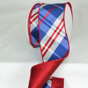 Elegant Couture Plaid Ribbon