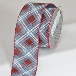 Diagonal Plaid Ribbon