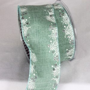 AQUA HOLLY EDGE RIBBON