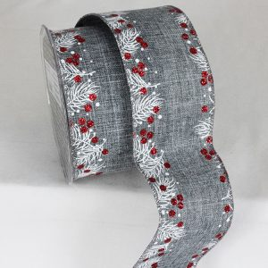 FRENCH BLUE HOLLY EDGE RIBBON