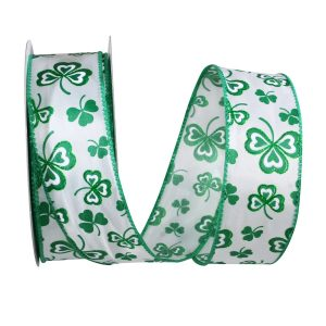 GREEN CLOVER LEAF RIBBON