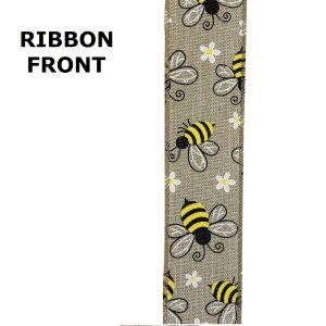 "FRONT OF1 1/2"" BUMBLE BEE RIBBON"