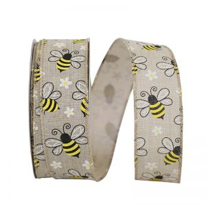 BUBLE BEES LINEN RIBBON