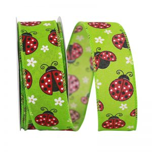 "1 1/2"" Lady Bug Ribbon"