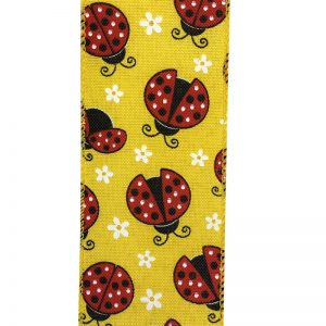 LADY BUG LINEN RIBBON