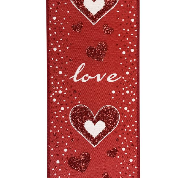 LOVE GLITTER HEARTS RIBBON SWATCH