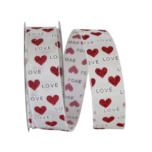 LOVE AND HEARTS RIBBON