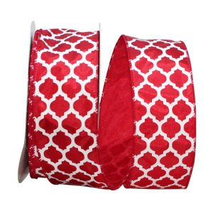 RED MOROCCAN 2 RIBBON