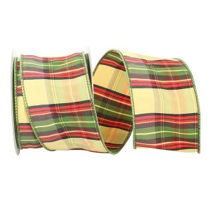 PLAID DAY DUPIONI RIBBON