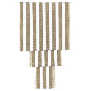BOLD STRIPE LINEN SOLID RIBBON SWATCH