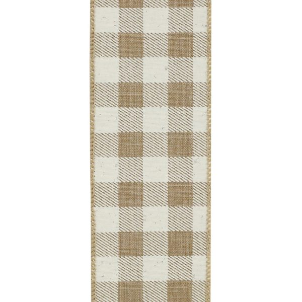 TWILL CHECK PRINT LINEN-FRONT 40