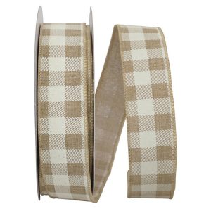 TWILL CHECK PRINT LINEN RIBBON
