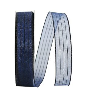Metallic Organza Stripe Ribbon