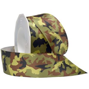 Camo Double Face Satin