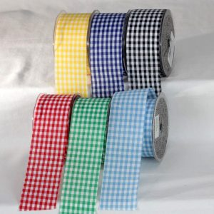 CUT EDGE GINGHAM RIBBON